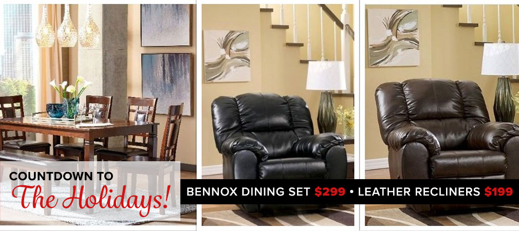 Bennox Dining Set and Recliners